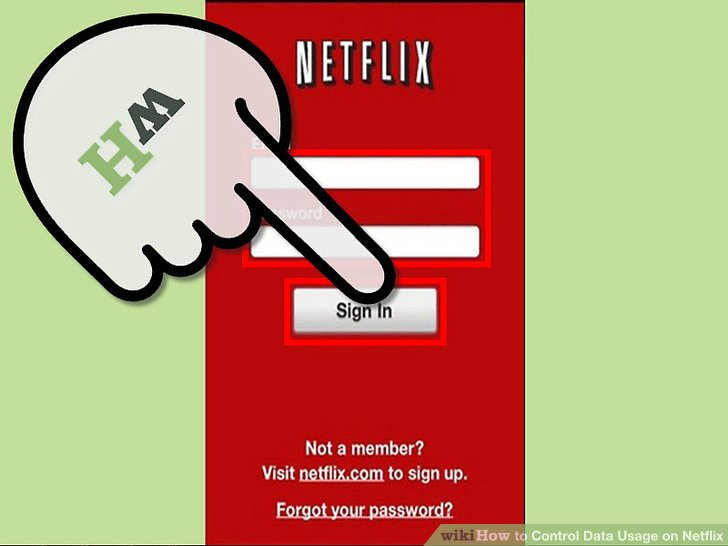 how to save user and password on the netflix application