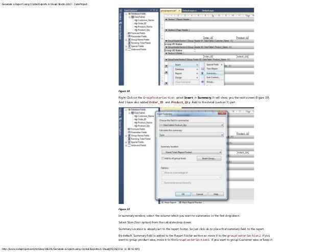 crystal reports application visual studio