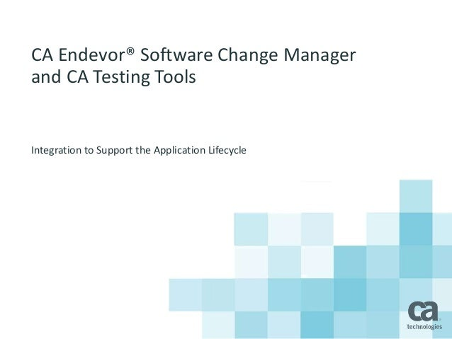 corporate application testing and tool support