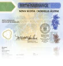 long form birth certificate application nova scotia