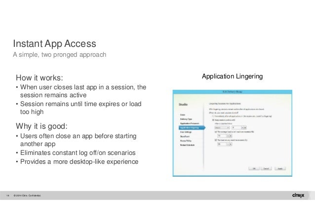 citrix launch application sits on starting