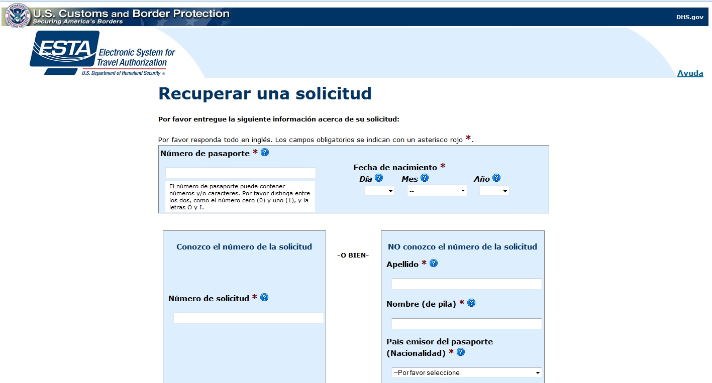 esta electronic system for travel authorization application