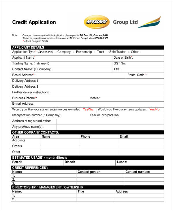 online business line of credit application