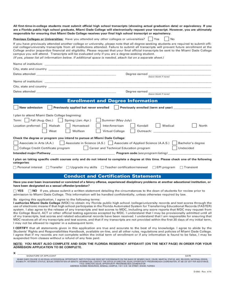 application and related form ryerson university