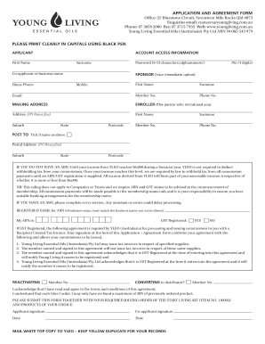 agreements with young adults application form