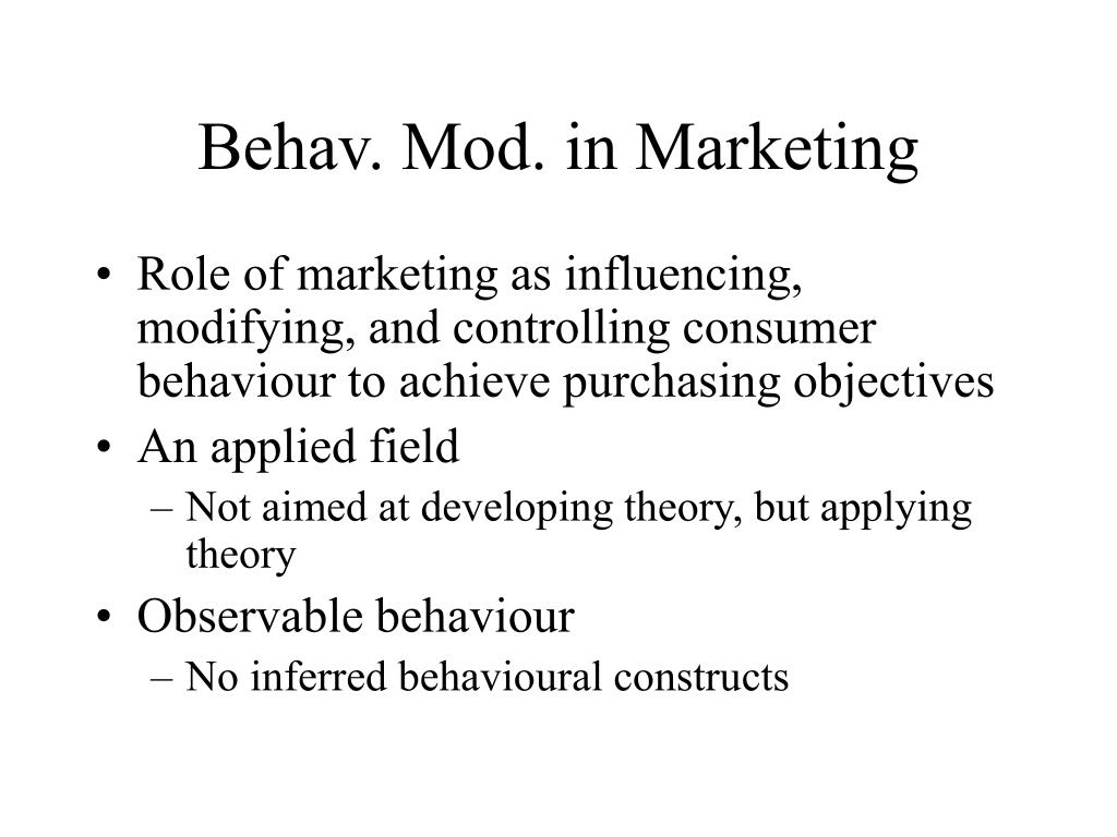 application of operant conditioning in marketing