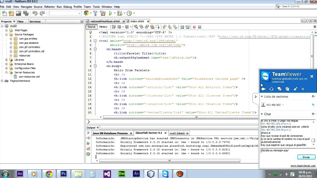crud web application java netbeans