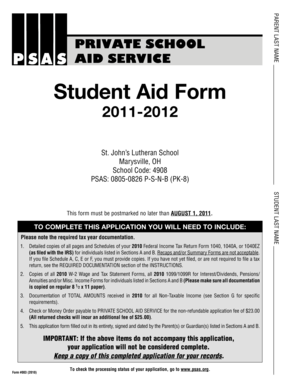 student aid bc how to fill out application