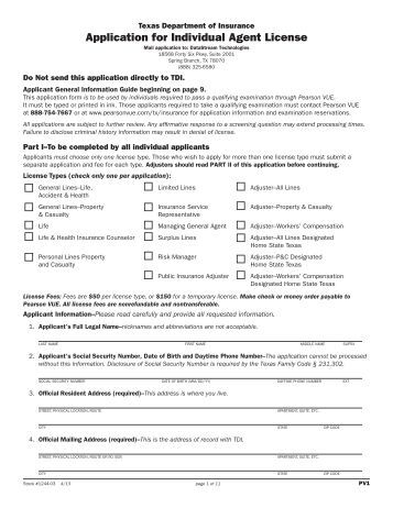 homeowners application for permit esa
