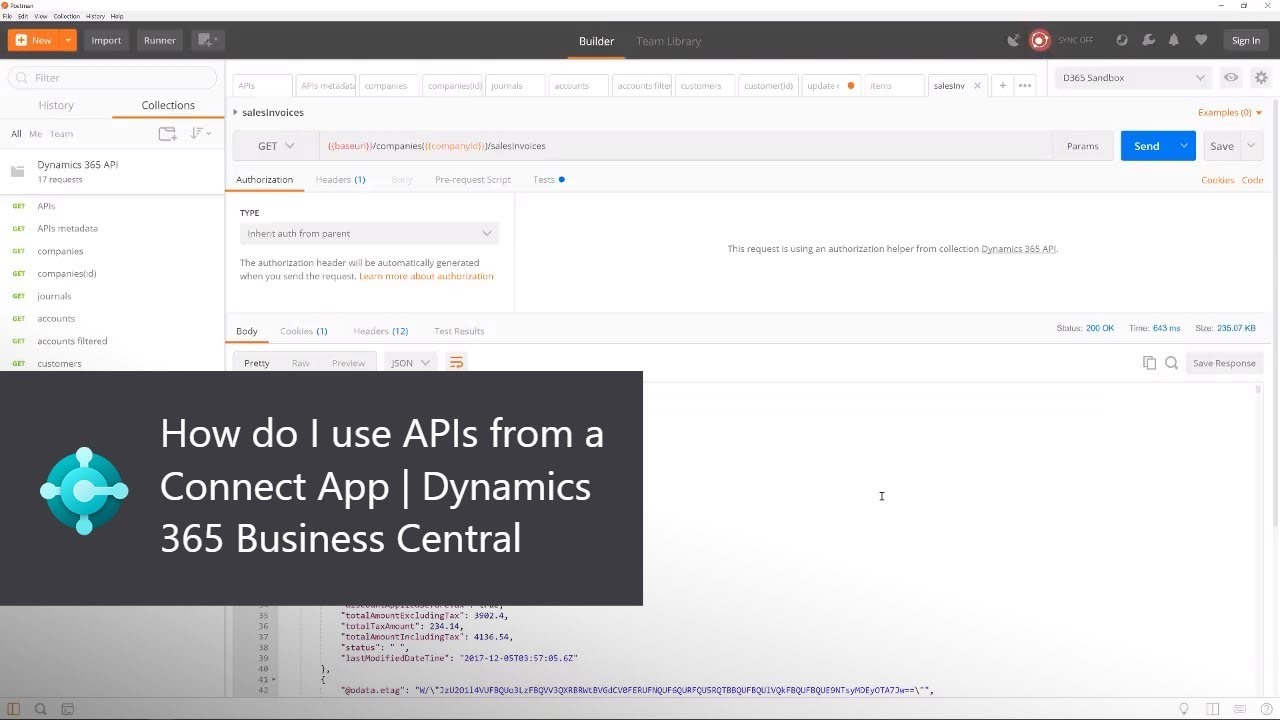 how to connect an api for an application video