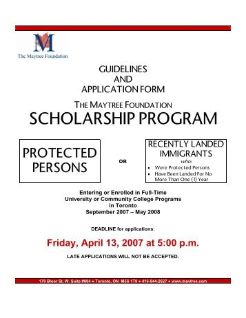 in course scholarship application form guelph