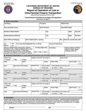 possession and acquisition application form for firearms license