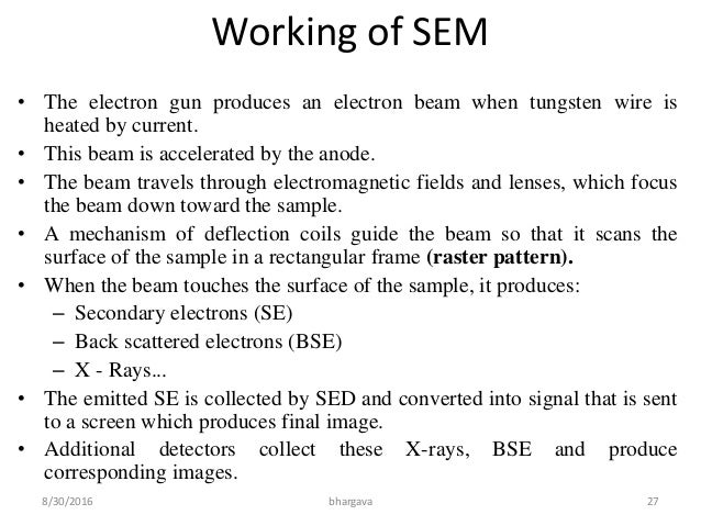 scanning electron microscopy principle and application