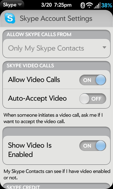 skype application settings windows 7