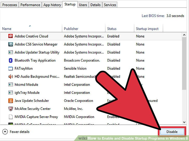 stop startup applications windows 7