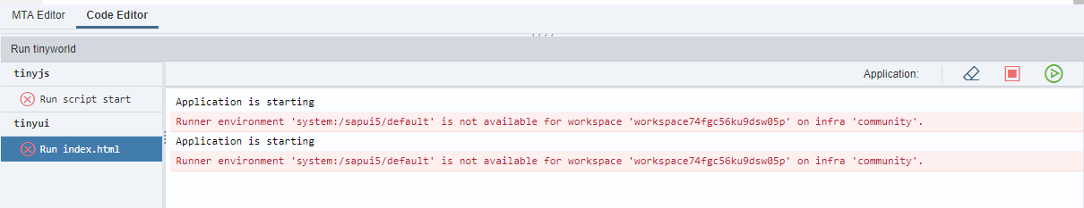 why am i getting a server error in application